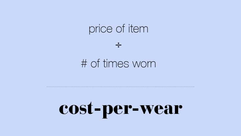 What Is Cost Per Wear?