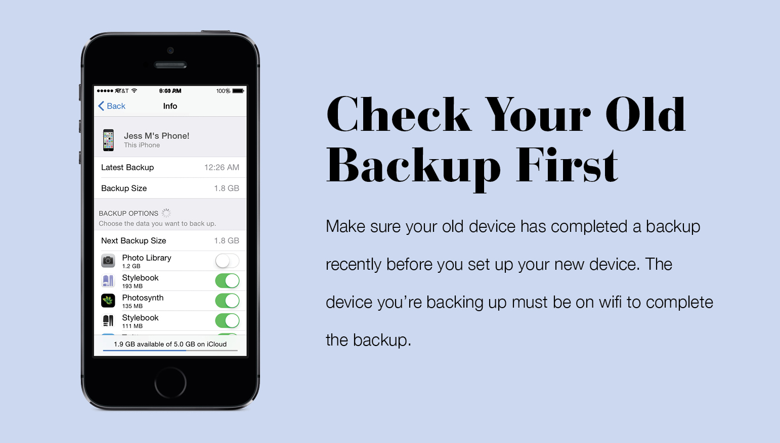 How To Backup Stylebook With iCloud – Stylebook Tips