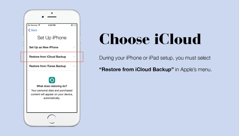 setup as new iphone or restore how to backup stylebook with icloud stylebook tips 19460