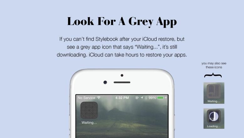 Grey Icon On iPhone or iPad