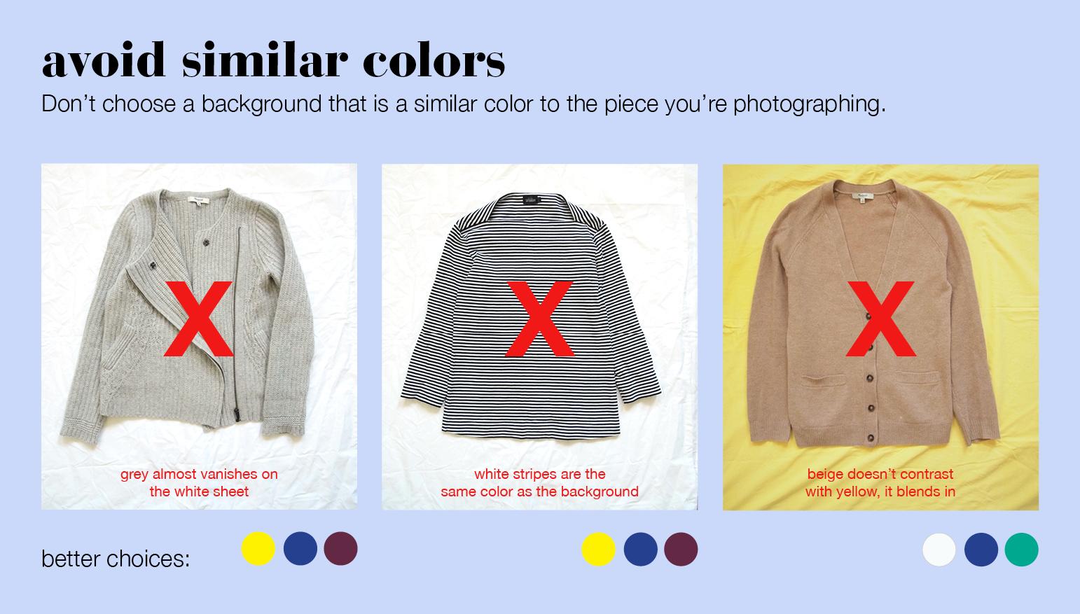 choosing a good background color for closet photos u2013 stylebook tips