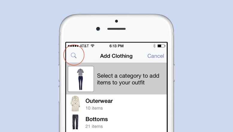 Searching While Creating A Stylebook Outfit