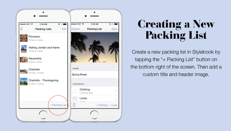 How To Add A New Packing List