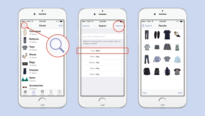 How To Search For Clothes Inside Stylebook