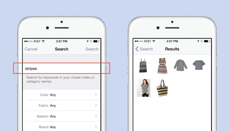 Keyword Search In The Closet Feature
