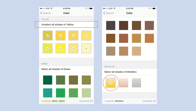 How To Select Colors In Stylebook