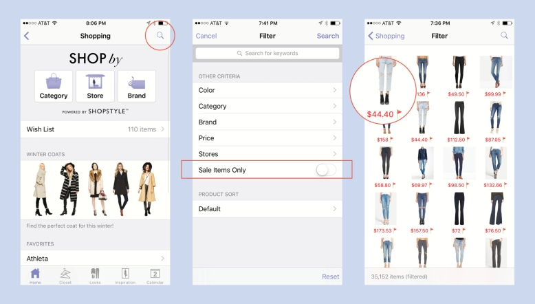 How To Display Only Sale Items Inside Stylebook
