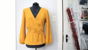 dress form with yellow blouse